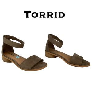 Torrid Tear Drop Suede Sandals NWT Size 7.5W